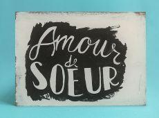 Amour Acrilico sobre madera 23 x 30 cm