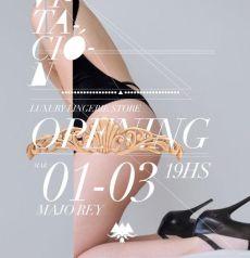 Invitación Opening Majo Rey Luxury Lingerie Store