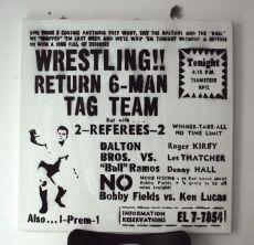 Dr. Rueda Wrestling Stencil Lienzo 100 x 100 cm