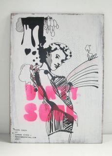 Rojo® Artspace Montevideo Marte Upmarket Sos callejero vos? Serigrafía en madera Bruster + Srtazue.com Artista invitado