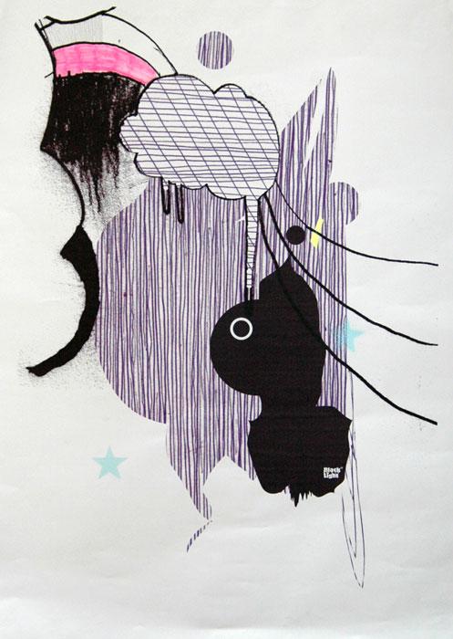 Posters Black Light 95 x 70 cm Serie x 2